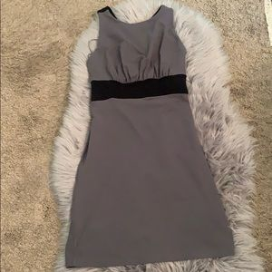 Gray and Black dress